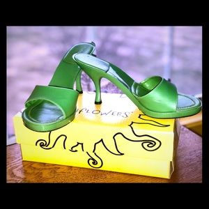 Beautiful Green Hannah Sunflowers Side Heels